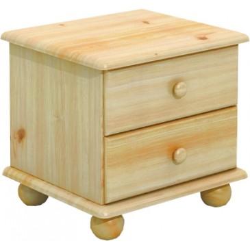 Noční stolek BR202, masiv borovice
