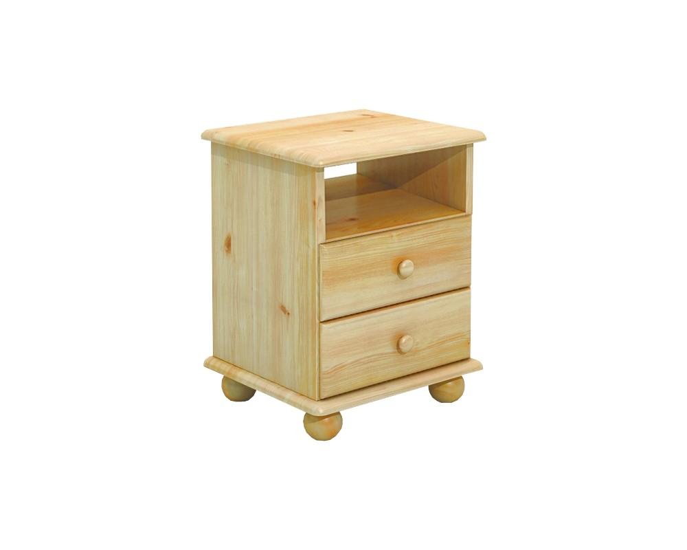 Noční stolek BR233, masiv borovice
