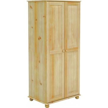 Šatní skříň dvoudílná BR224, masiv borovice