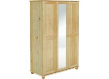 Šatní skříň BR240 se zrcadlem, masiv borovice