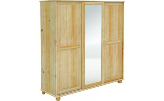 Šatní skříň s posuvnými dveřmi BR241, masiv borovice