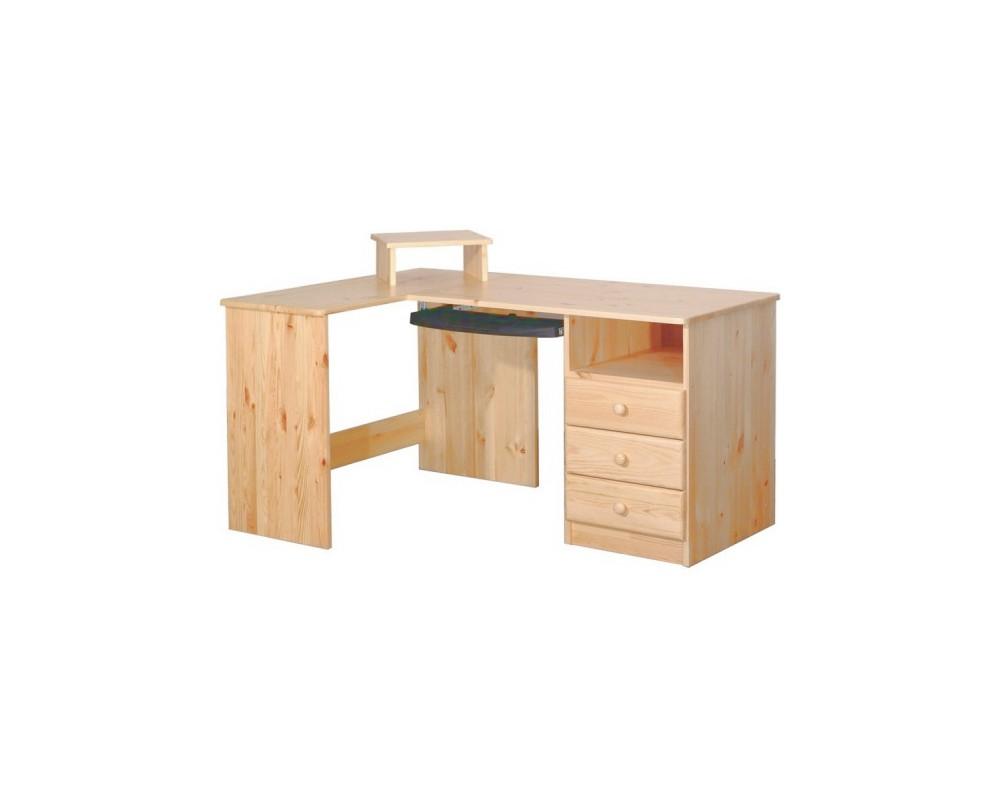 Psací stůl rohový BR041, masiv borovice