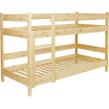 Dětská poschoďová, patrová postel se zábranou BR081, masiv borovice