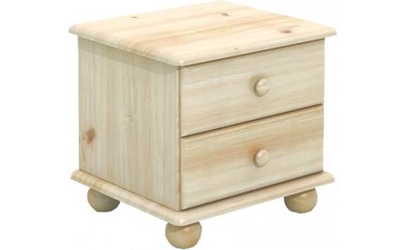 Komoda úzka - noční stolek BR801, masiv smrk