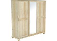 Šatní skříň s posuvnými dveřmi BR841, masiv smrk