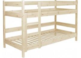 Dětská poschoďová, patrová postel se zábranou BR481, masiv smrk