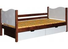Dětská postel s úložným prostorem BR443, 90x200, masiv smrk