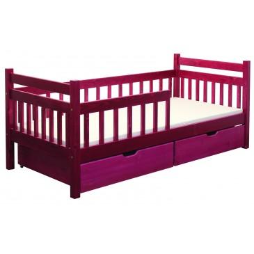 Dětská postel s úložným prostorem BR435, 90x200, masiv smrk