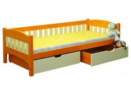 Dětská postel s úložným prostorem BR436, 90x200, masiv smrk