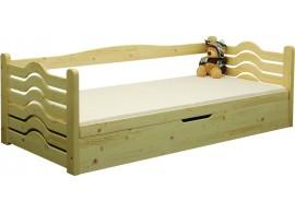 Dětská postel s úložným prostorem BR437, 90x200, masiv smrk