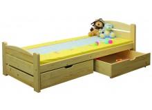 Dětská postel s úložným prostorem BR439, 90x200, masiv smrk