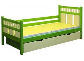 Dětská postel s úložným prostorem BR440, 90x200, masiv smrk