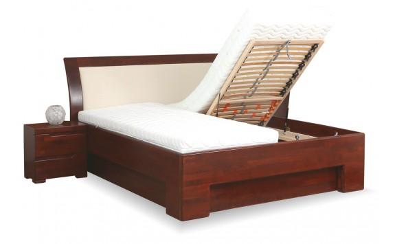 Manželská postel s úložným prostorem z masivu SOFIA F115/F139 180x200, masiv buk