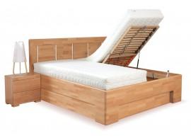 Manželská postel s úložným prostorem z masivu SOFIA F111/F139 180x200, masiv buk