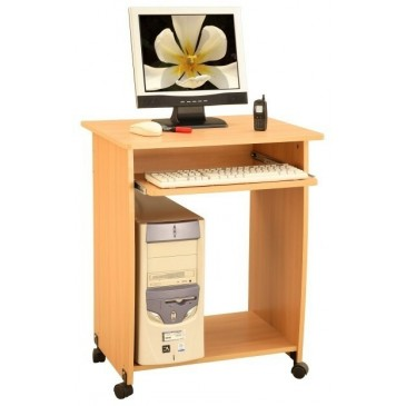Psací PC stůl na kolečkách IA161A, buk