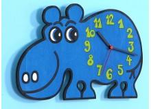 Dětské nástěnné hodiny hroch, D815