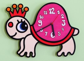 Dětské nástěnné hodiny želva, D814K