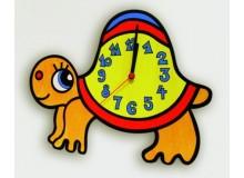 Dětské nástěnné hodiny želva bez korunky, D814