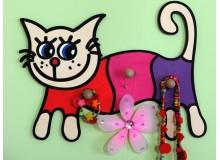 Dětský věšák kočka, D817
