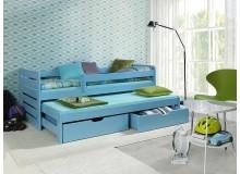 Dětská postel s přistýlkou a úložným prostorem TOMÍK II, masiv borovice