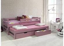 Dětská postel s přistýlkou a úložným prostorem MARTIN II, masiv borovice