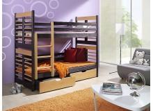 Dětská patrová postel s úložným prostorem AGUSTYN, masiv borovice