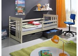 Dětská postel se zábranou a úložným prostorem OTA, masiv borovice