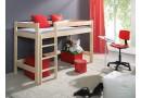 Dětská zvýšená postel horní spaní LARA, masiv borovice