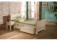 Dětská postel s úložným prostorem OKTAVIA, masiv borovice