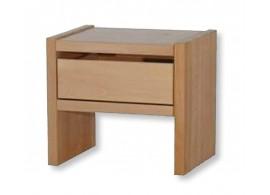 Noční stolek se zásuvkou MAXIM, masiv jádrový buk