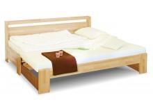 Rozkládací postel z masivu DUO, 90x200, buk