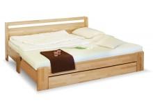 Rozkládací postel s úložným prostorem DUO, 90x200, buk