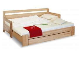 Rozkládací postel s úložným prostorem DUO KOMFORT, 90x200, buk