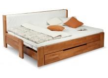 Rozkládací postel s úložným prostorem DUO MONIKA, 90x200, buk