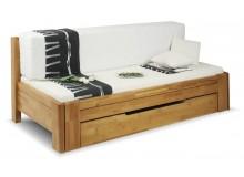 Rozkládací postel s úložným prostorem DUO VERONA, 90x200, buk