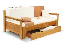 Rozkládací postel s úložným prostorem DUO LADA, 90x200, buk