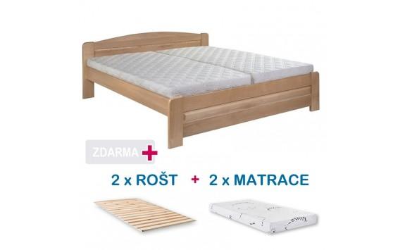 028b743aadef Manželská postel LADA s roštem a matrací ZDARMA 180x200
