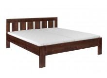 Manželská postel FILIP s roštem a matrací ZDARMA 180x200, masiv borovice, ořech