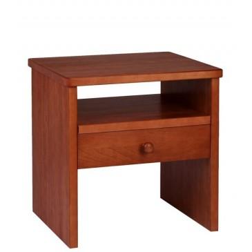 Noční stolek G-W1/T - masiv buk - třešeň
