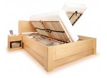 Zvýšená postel s úložným prostorem K-DESIGN 1-A senior 160x200, 180x200, masiv buk