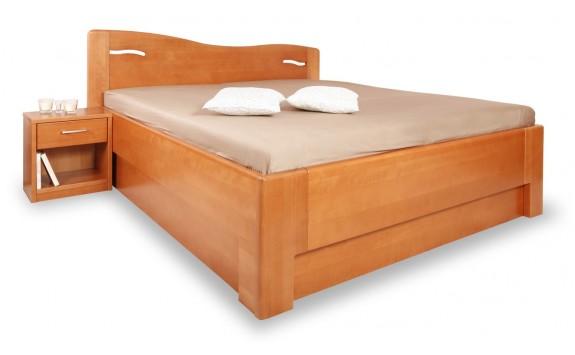 Zvýšená postel s úložným prostorem K-DESIGN 2-A senior 160x200, 180x200, masiv buk