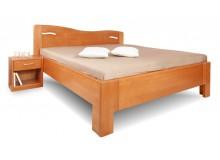 Zvýšená postel K-DESIGN 2-A senior 160x200, 180x200, masiv buk