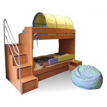 ... se schůdky miki 3 olše poschoďová postel pro 2 děti se schůdky