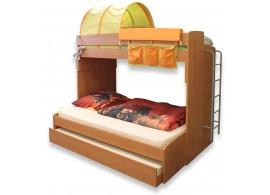 Poschoďová postel pro 3 děti s žebříkem Miki-4