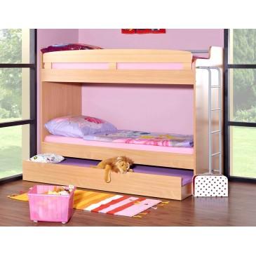 Poschoďová postel pro 3 děti s žebříkem D3-DONALD