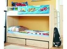 Patrová postel pro 2 děti s žebříkem D5-DONALD