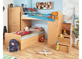 Patrová postel elko se skříní a schůdky D6-DONALD