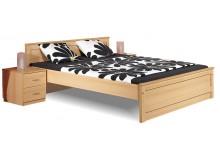Manželská postel - dvojlůžko B20-BOLZANO 180x200, buk