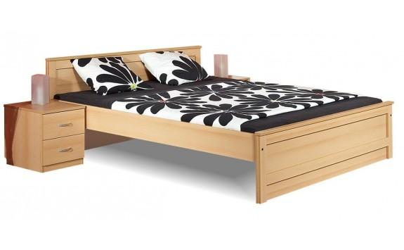 Manželská postel - dvoulůžko B35-BOLZANO 160x200, bříza-buk-olše
