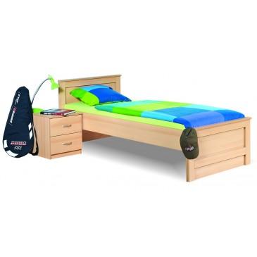 Dětská postel - jednolůžko 90x200 B18-BOLZANO, buk-bříza-olše